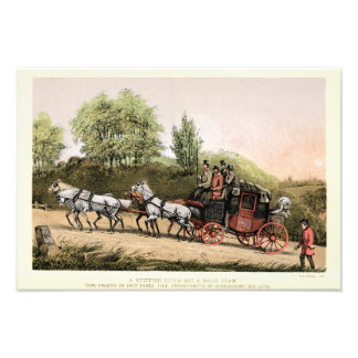 19th Century Victorian Stagecoach Photograph