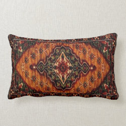 19th Century Vintage Carpet Design 227 Lumbar Pillow