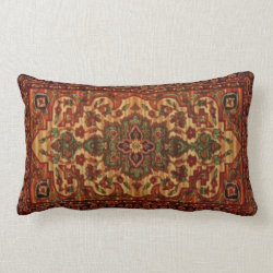 19th Century Vintage Carpet Design 3148 Lumbar Pillow
