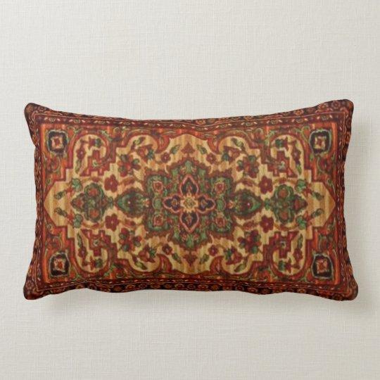 19th Century Vintage Carpet Design 3148 Lumbar Pillow