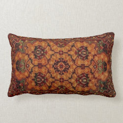 19th Century Vintage Carpet Design 3157 Lumbar Pillow