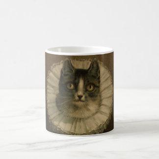 19th Century Vintage Cat Print Custom Coffee Mugs