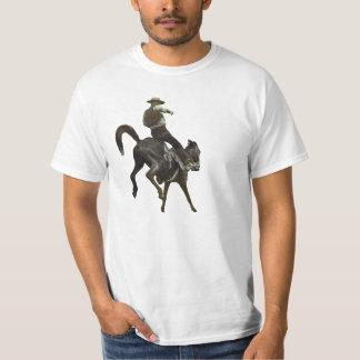 19th Century Vintage Cowboy Bucking Bronco Tee Shirt