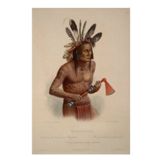 19th Century Warrior Chief Reprint 36 x 24 Poster