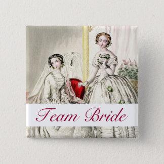 19th Century Wedding Pinback Button