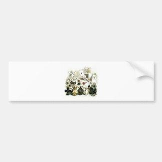 19th Century Wonderland-esque Woodcut Car Bumper Sticker