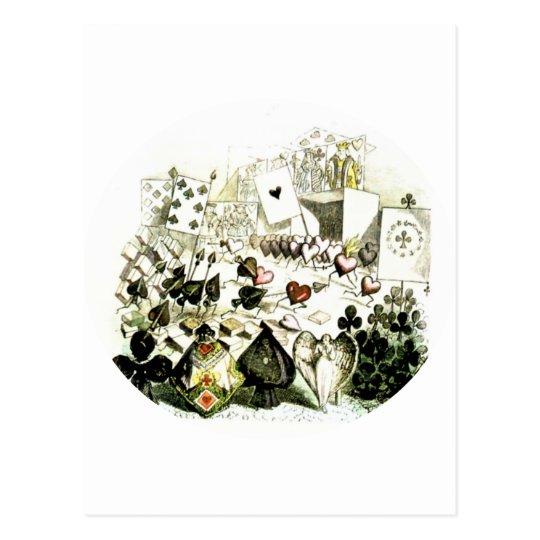 19th Century Wonderland-esque Woodcut Postcard