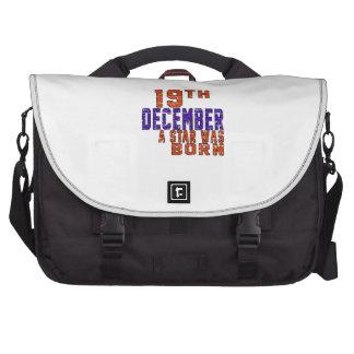 19th December a star was born Laptop Computer Bag
