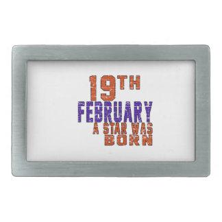 19th February a star was born Rectangular Belt Buckle