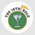 19th Hole Classic Round Sticker