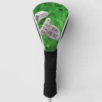 19th Hole Flag on green background Golf Head Cover