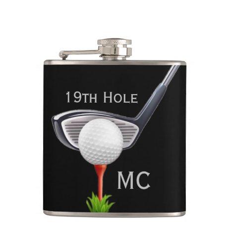 19th Hole Monogrammed Golfer Flask