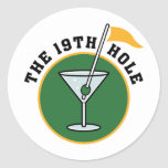 19th Hole Round Stickers