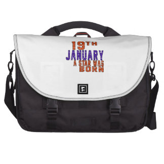 19th January a star was born Laptop Messenger Bag