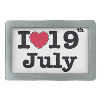 19th july my day of birthday belt buckles