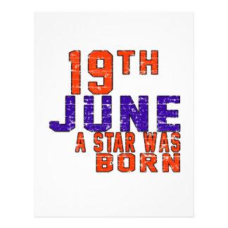 19th June a star was born Letterhead Template