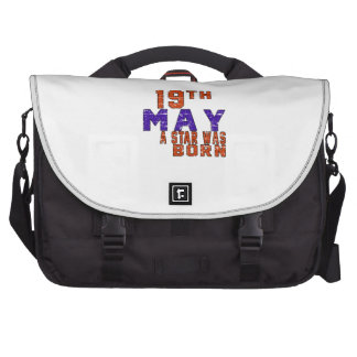 19th May a star was born Laptop Messenger Bag