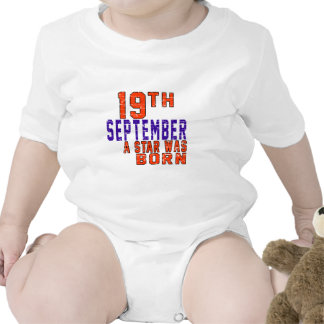 19th September a star was born Bodysuits