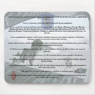 19th special forces creed camp williams veterans   mouse pad
