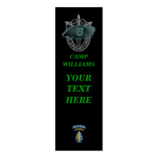 19th special forces green berets group bookmarkers business cards