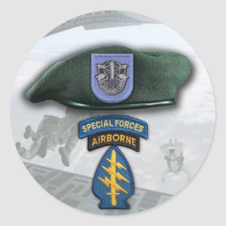 19th Special forces Green Berets veterans flash St Sticker
