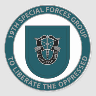 19th Special Forces Group Classic Round Sticker