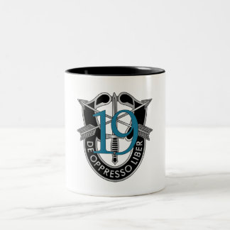 19th Special Forces Group Crest Two-Tone Coffee Mug
