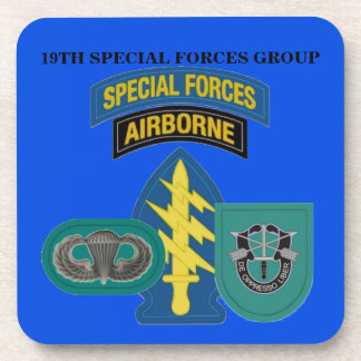 19TH SPECIAL FORCES GROUP DRINK COASTERS