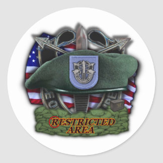 19th Special forces group Green Berets vets Sticke Round Stickers