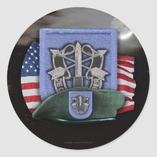 19th Special forces veterans vets flash nam Sticke Classic Round Sticker
