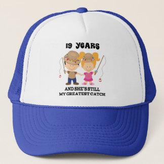 19th Wedding Anniversary Gift For Him Trucker Hat