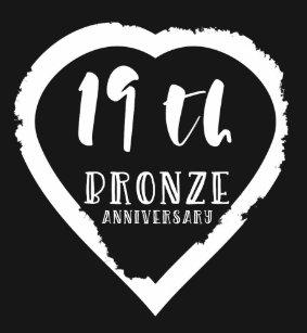 19th Wedding Anniversary Traditional Bronze T Shirt