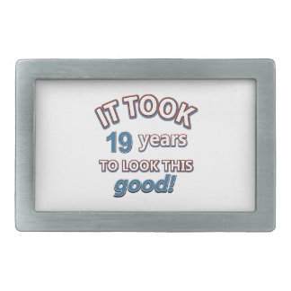 19th year birthday designs belt buckles