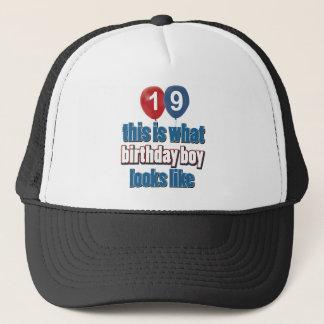 19th year birthday designs trucker hat