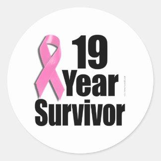 19y Survivor Des 1.png Classic Round Sticker