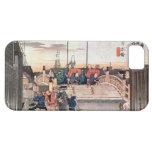 1. 日本橋, 広重 Nihonbashi, Hiroshige, Ukiyo-e iPhone 5 Case-Mate Carcasa