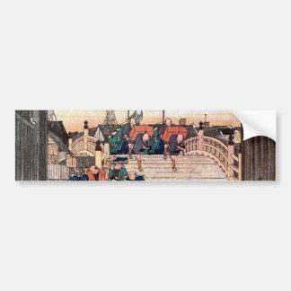 1. 日本橋, 広重 Nihonbashi, Hiroshige, Ukiyo-e Pegatina Para Auto