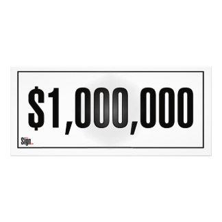 $1,000,000 Goal Sign Rack Card