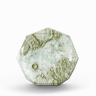 1:000 000 scale lunar chart acrylic award