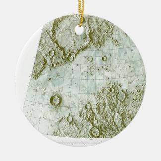 1:000 000 scale lunar chart ceramic ornament