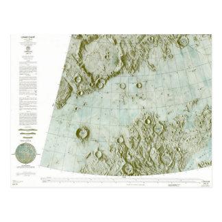1:000 000 scale lunar chart postcard