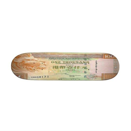 1,000 Hong Kong Dollar Bill Skateboard Mini
