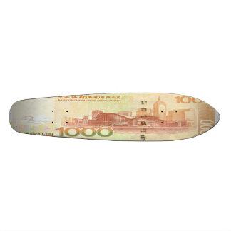 1,000 Hong Kong Dollar Bill Skateboard Oldschool