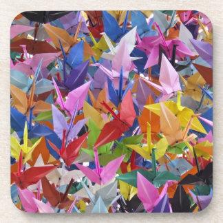 1,000 Origami Paper Cranes Cork Coasters