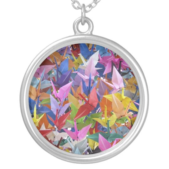 1,000 Origami Paper Cranes Necklace