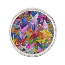 1,000 Origami Paper Cranes Photo Lapel Pin