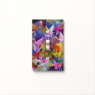 1,000 Origami Paper Cranes Photo Light Switch Cover