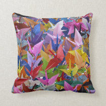 1,000 Origami Paper Cranes Photo Throw Pillow