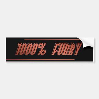 1,000 Percent Furry Bumper Sticker