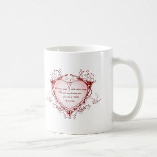 1,000 seas apart, 1,000 miles away... classic white coffee mug